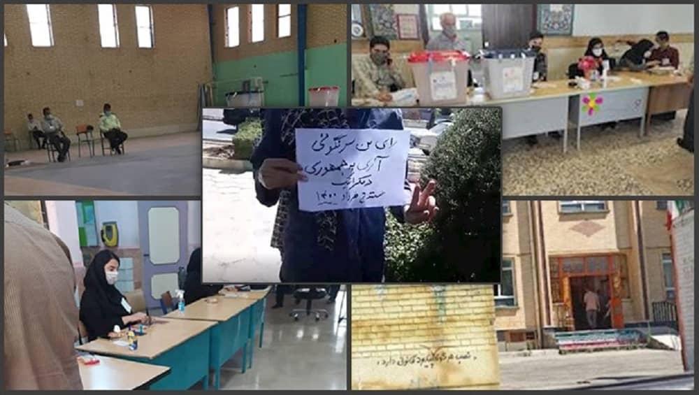 Mass boycott of Iran's sham presidential elections — June 18, 2021