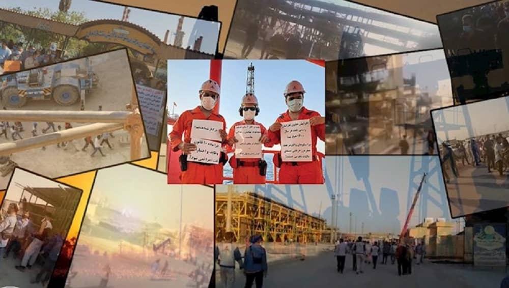 Pekerja sektor minyak di beberapa kota di Iran mogok - Juni 2021 (1)