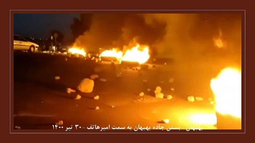 Behbahan – Blocking the highway from Behbahan to Amir Hatef – July 21, 2021