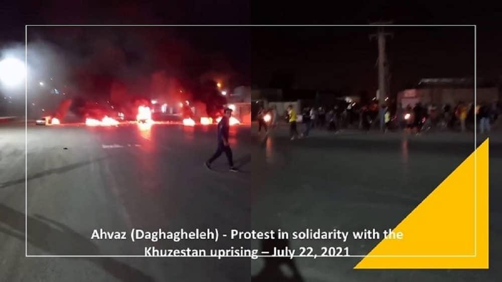 Daghagheleh (Ahvaz) – Protes terhadap kekurangan air – 22 Juli 2021