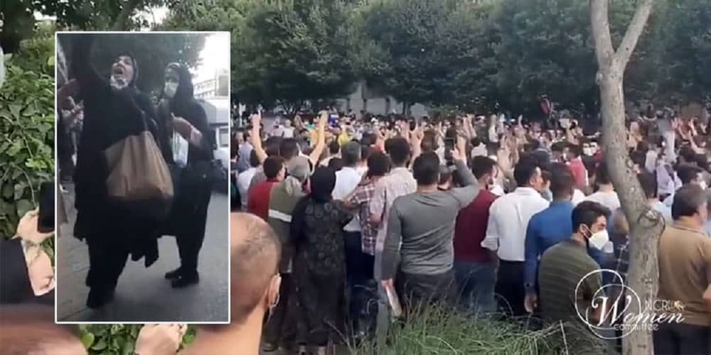 Demonstrations-in-Miandoab-Inset-a-woman-in-Tabriz-protests-min