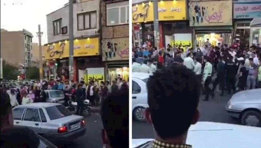 Protesters in Robat Karim call for regime change in Iran - July 2021 (1)