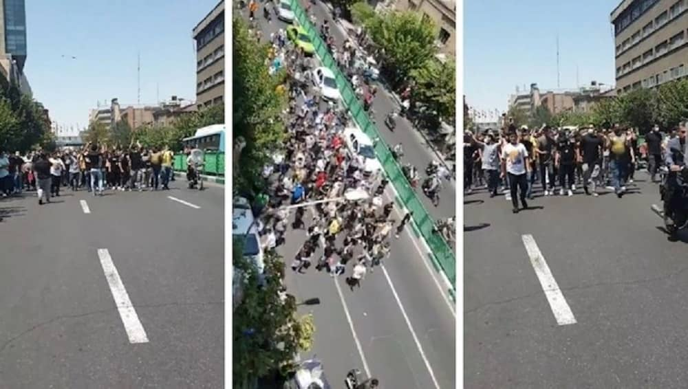 Protesters in Tehran call for regime change - July 2021
