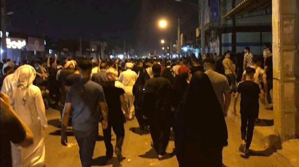 Protests in Khuzestan province over water shortages - July 2021
