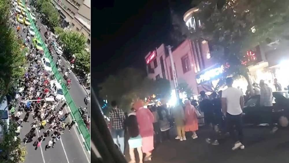 Protests in Tehran and Karaj in solidarity with the people of Khuzestan - July 2021