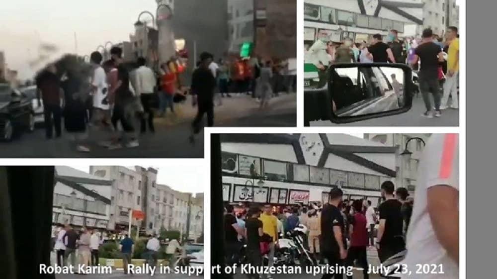 Robat Karim - A large crowd gathered