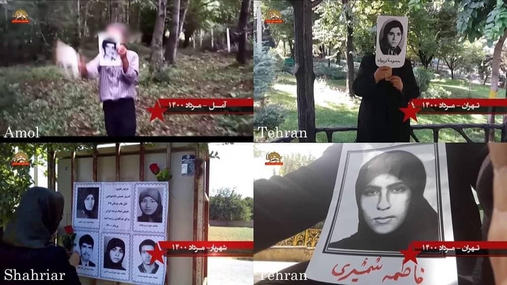 Teheran, Amol, dan Shahriar – Kegiatan Unit Perlawanan dan pendukung MEK