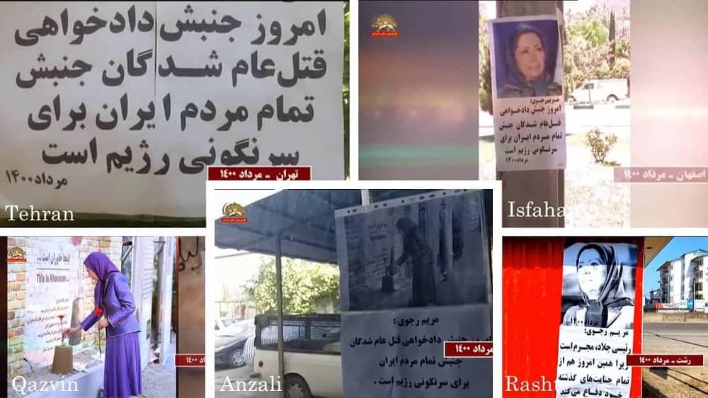 Teheran, Isfahan, Rasht, Qazvin, dan Anzali – Kegiatan Unit Perlawanan dan pendukung MEK