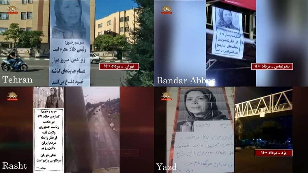 Teheran, Yazd, Rasht, dan Bandar Abbas – Kegiatan Unit Perlawanan dan MEK