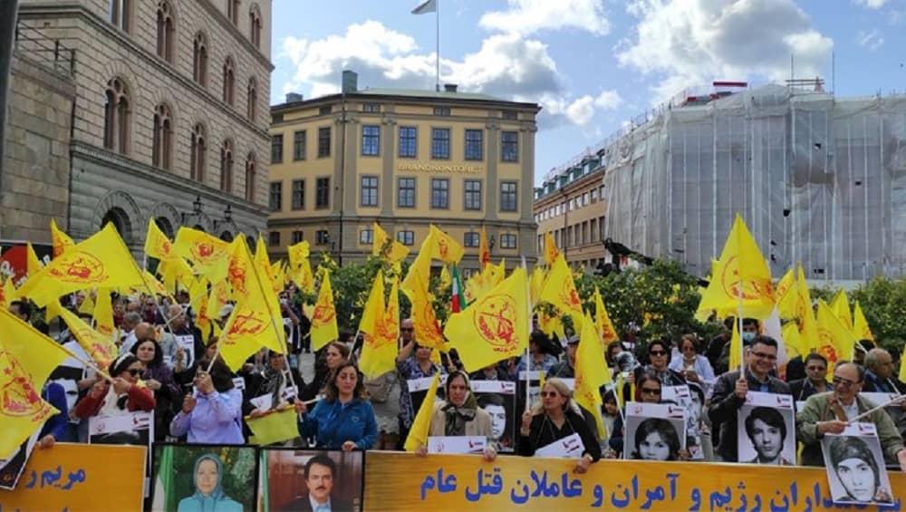 Iranian expats Sweden rally 1988 massacre—August 2021
