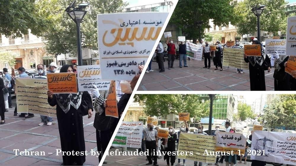 Teheran – Protes oleh investor yang tertipu