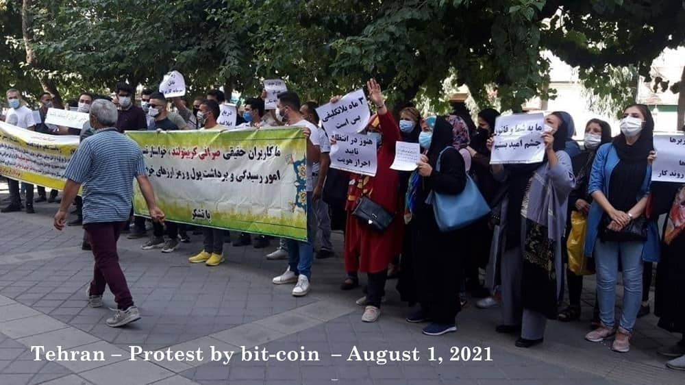 Teheran – Protes oleh Cryptoland Exchange