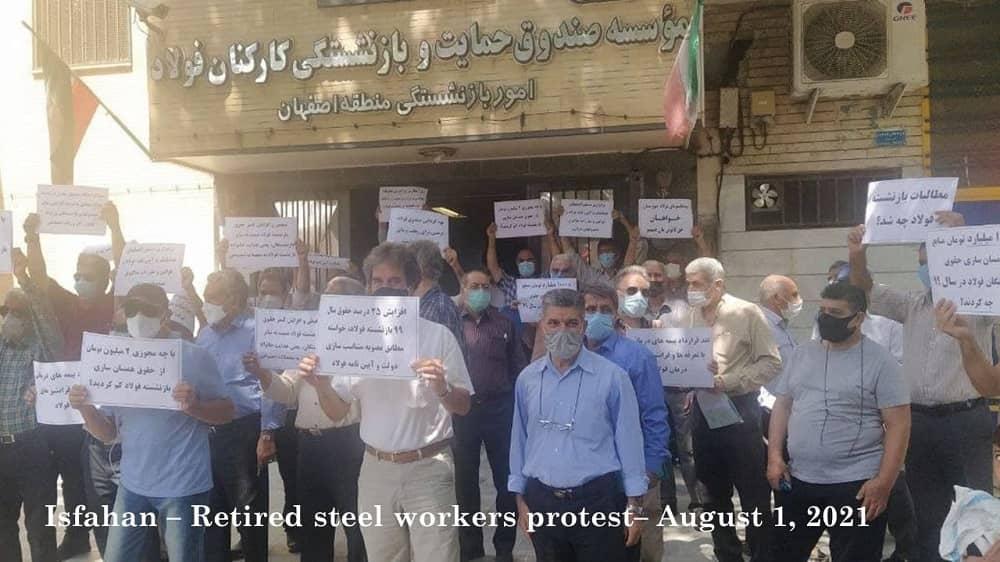 Isfahan – Pensiunan dan pensiunan Industri Baja memprotes