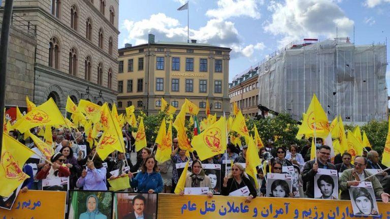 MEK Supporters Protest in Sweden: End Regime's Impunity over Iran's 1988 Massacre
