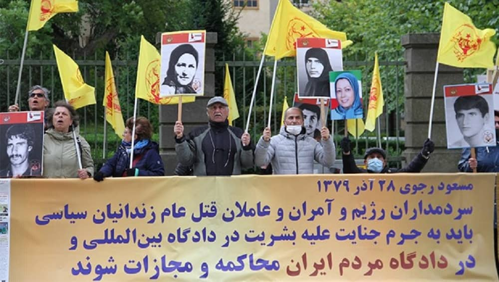 Iranian expats in Sweden hold a large protest rally