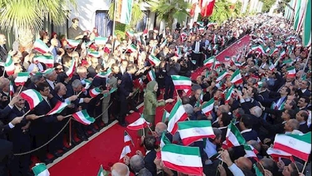 Members of MEK welcome NCRI president-elect Maryam Rajavi in Albania—October 2016