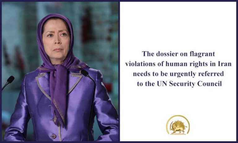 Mrs. Maryam Rajavi Comments Following the UN SEC. General Report to the General Assembly, on Situation of Human Rights in Iran: