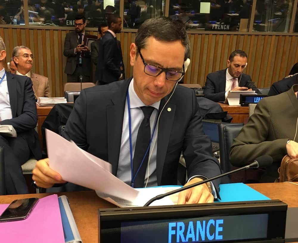 Yann Hwang-French Ambassador and Permanent Representative to the Disarmament Conference in Geneva to the First Committee of the General Assembly (Disarmament)-min