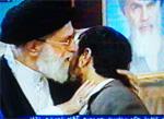 Khemenei receiving Ahmadinejad