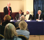 From left: Jonathan Shaw, Naser Razi, Ayatollah Ganjei and Lord Clarke