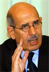 ElBaradei, director general of the International Atomic Energy Agency