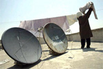 Hidden satellite dishes in Iran