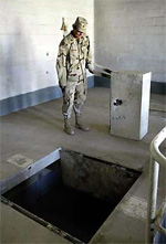 Archive photo - discovery of a torture center