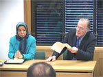 Lord Corbett of Castle Vale and Ms. Dowlat Nowrouzi at Westminister press conference
