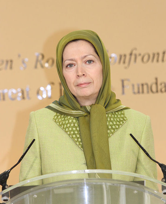 Maryam Rajavi, International Women's Day conf. at Iranian opposition HQ in Paris