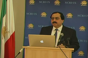 Alireza Jafarzadeh, the NCRI-US Deputy Director, unveils on June 25 2015 a major report on the Iranian regime's deceit tactics and strategies in nuclear negotiations with the world powers.