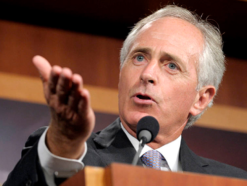Senator Bob Corker, chairman of the US Senate Foreign Relations Committee