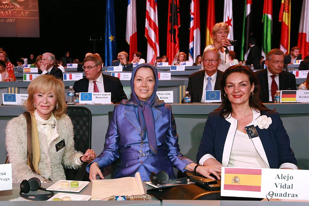 Mrs. Rajavi with European dignitaries