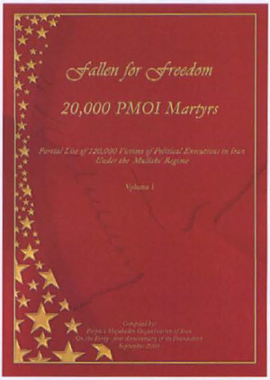 Partial list of 120,000 victims of political executions in Iran under the mullahs' regime. (PMOI)