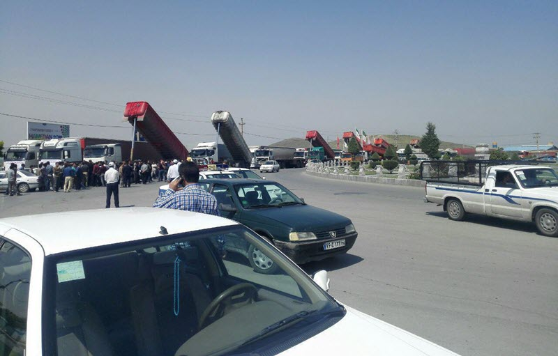 Iran-third day of strike by truck drivers