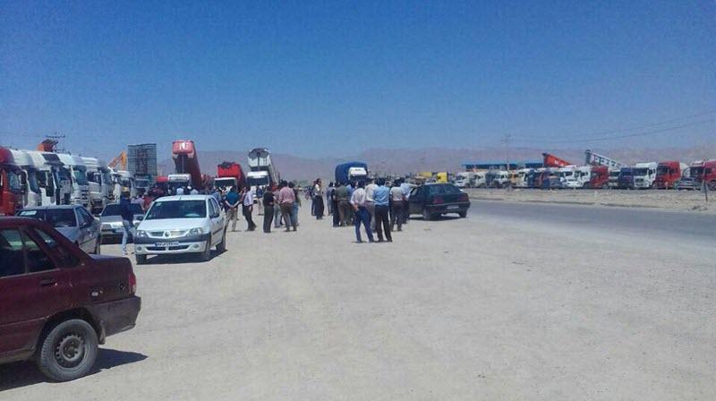 Iran-truck Drivers' Strike-eighth-day