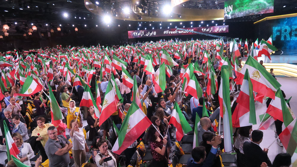 grand gathering of Iranian democratic opposition NCRI in Paris on Saturday 30 July