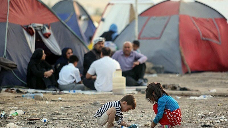 Thousands Still Living in Tent Cities in Iran One Year After Quake