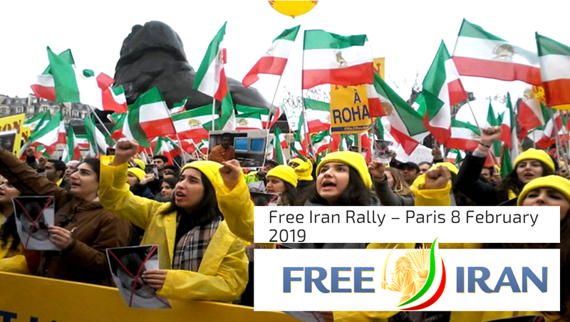 Free Iran Rally – Paris 8 February 2019