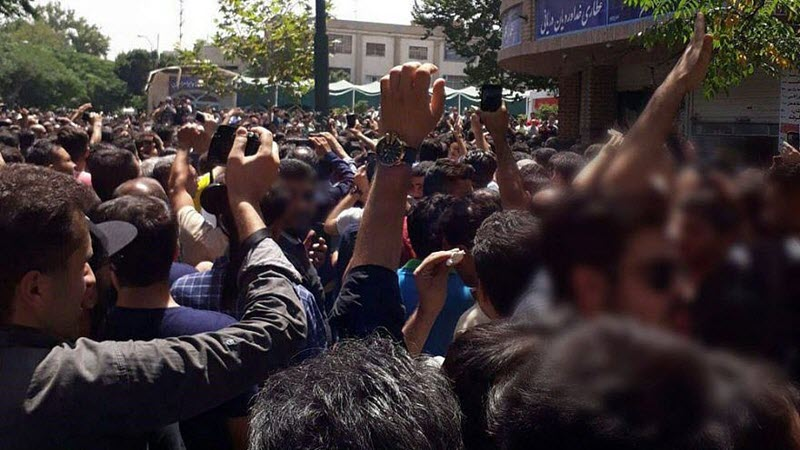 Demonstrations in the Tehran bazaar by merchants and shopkeepers over rising inflation in the country in June 2018