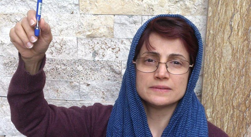 The Human Rights activist Ms. Nasrin Sotudeh who in in jail in Iran now, has been sentenced to 38 years imprisonment and 148 lashes.