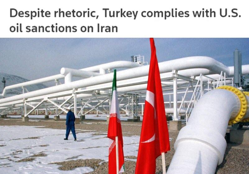 Despite Rhetoric, Turkey Complies With U.S. Oil Sanctions on Iran Regime - Report