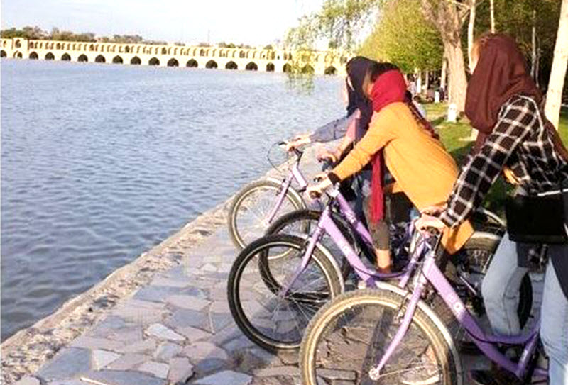 Iran's Regime Bans Women From Riding Bicycles in Isfahan