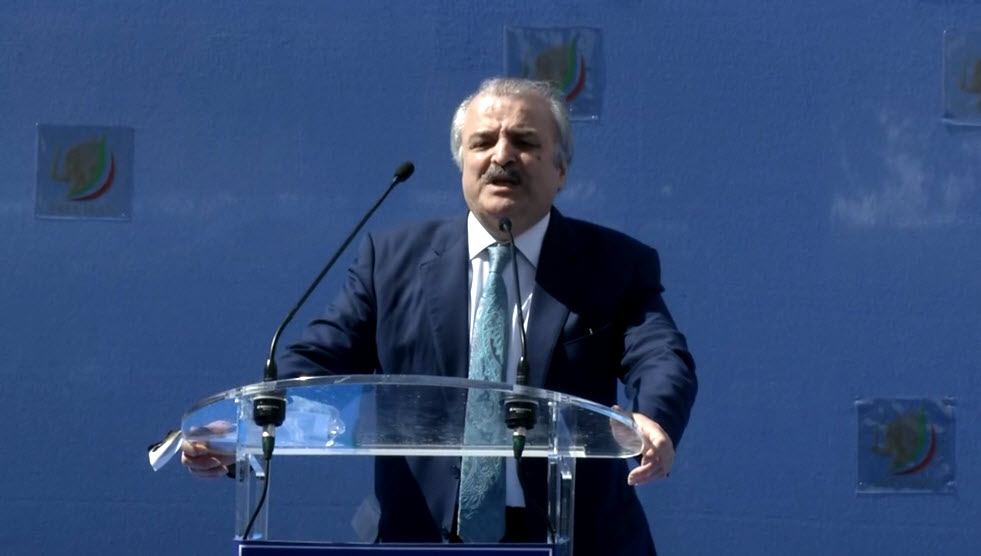 Mohammad Mohaddessin at the Free Iran Rally in Brussels