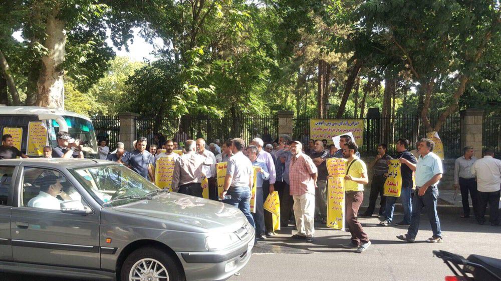 Tehran Bus Drivers Protest Against New Traffic Tolls