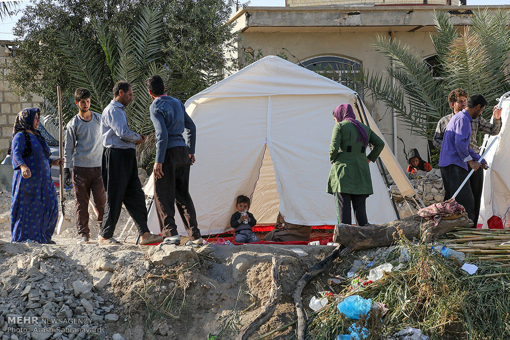 Iranian People Resort to Living in Tents out of Poverty