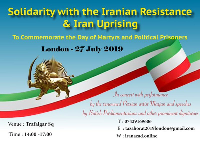 Major Rally and March by MEK Supporters in London in Support of a Free Iran