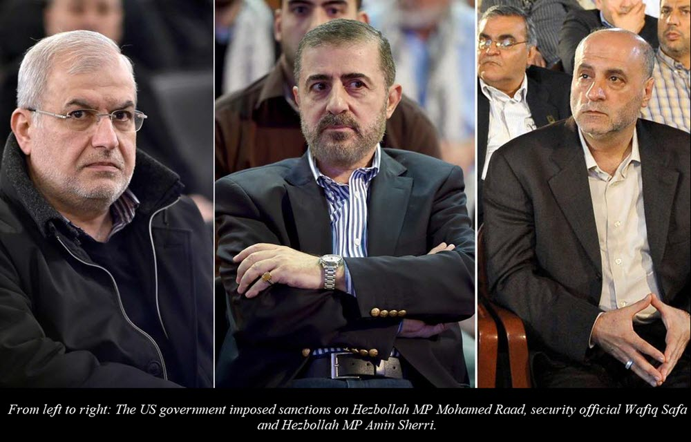 U.S. Imposes Sanctions on 3 Hezbollah Officials Accused of Supporting Iran's Terrorist Regime