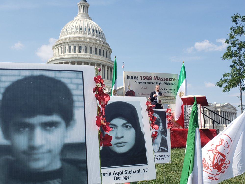 Rep. Eliot Engel at tribute to victims of Iran's 1988 massacre