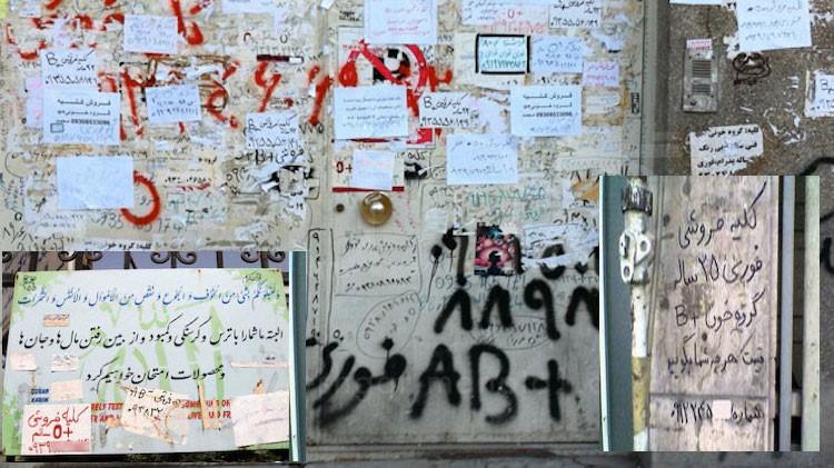 Farhang Hosseini alley kidney sale Iran