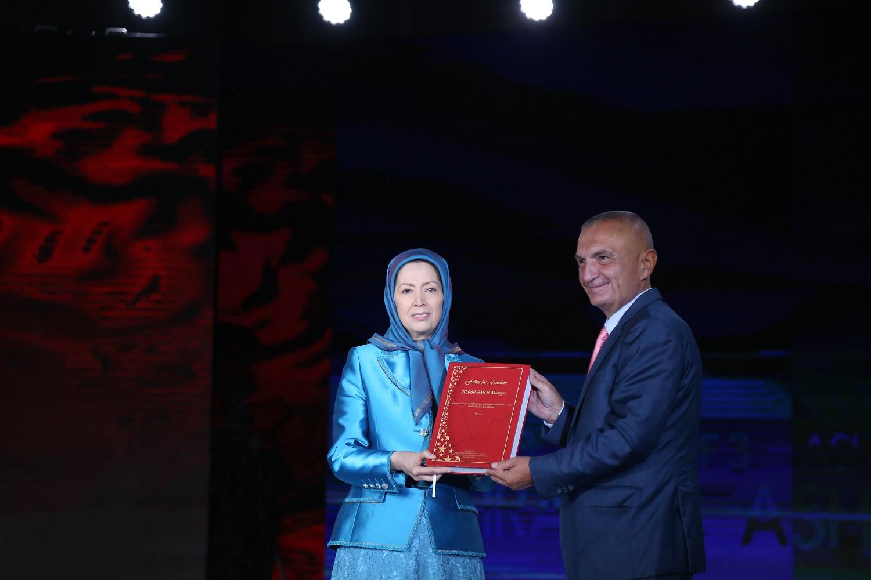 Maryam Rajavi Ilir Meta Ashraf 3 Albania Iran MEK, September 2019